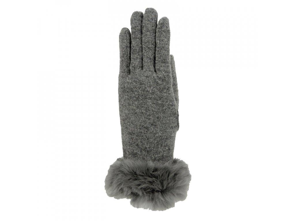 Dámské zimní rukavice Mess GL0318 šedé
