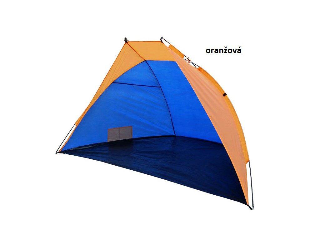 Plážový stan - otevřená zástěna 220x115x120 cm oranžová