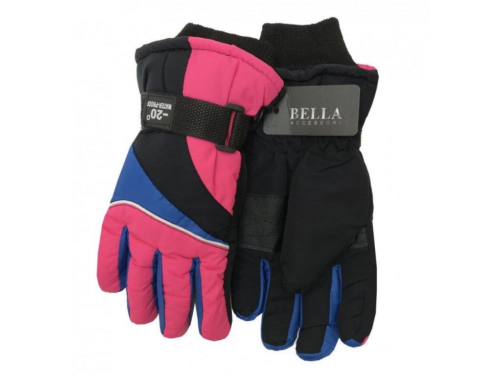 Dětské zimní rukavice Bella Accessori 9009-2 růžová