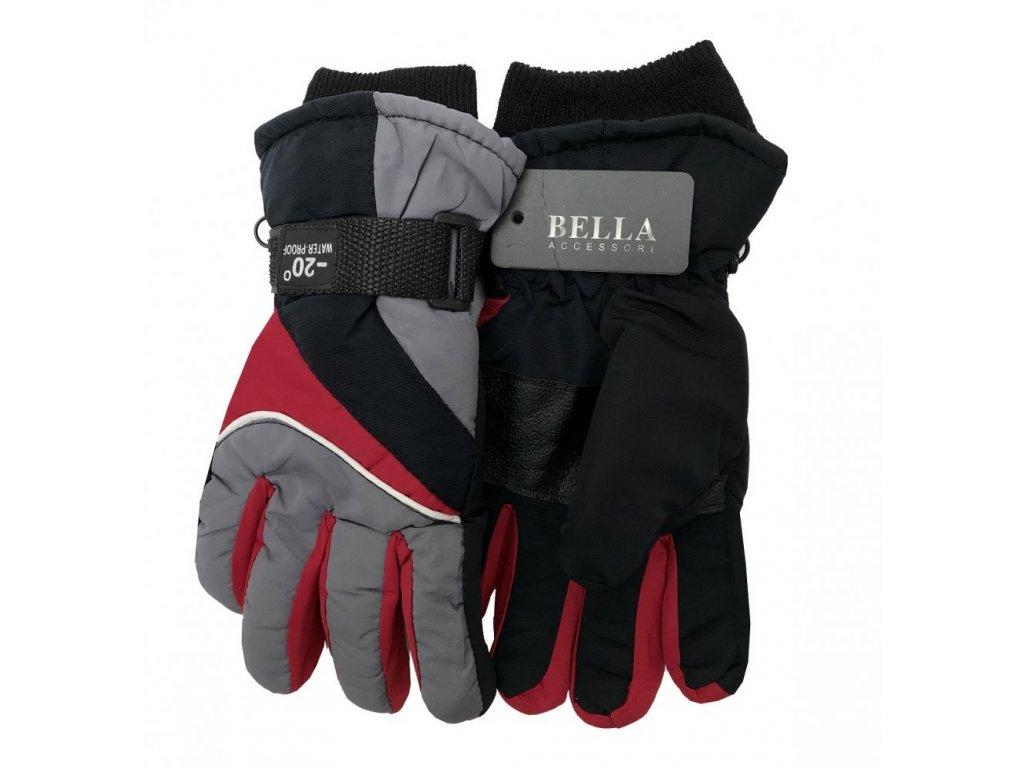 Dětské zimní rukavice Bella Accessori 9009-6 šedá