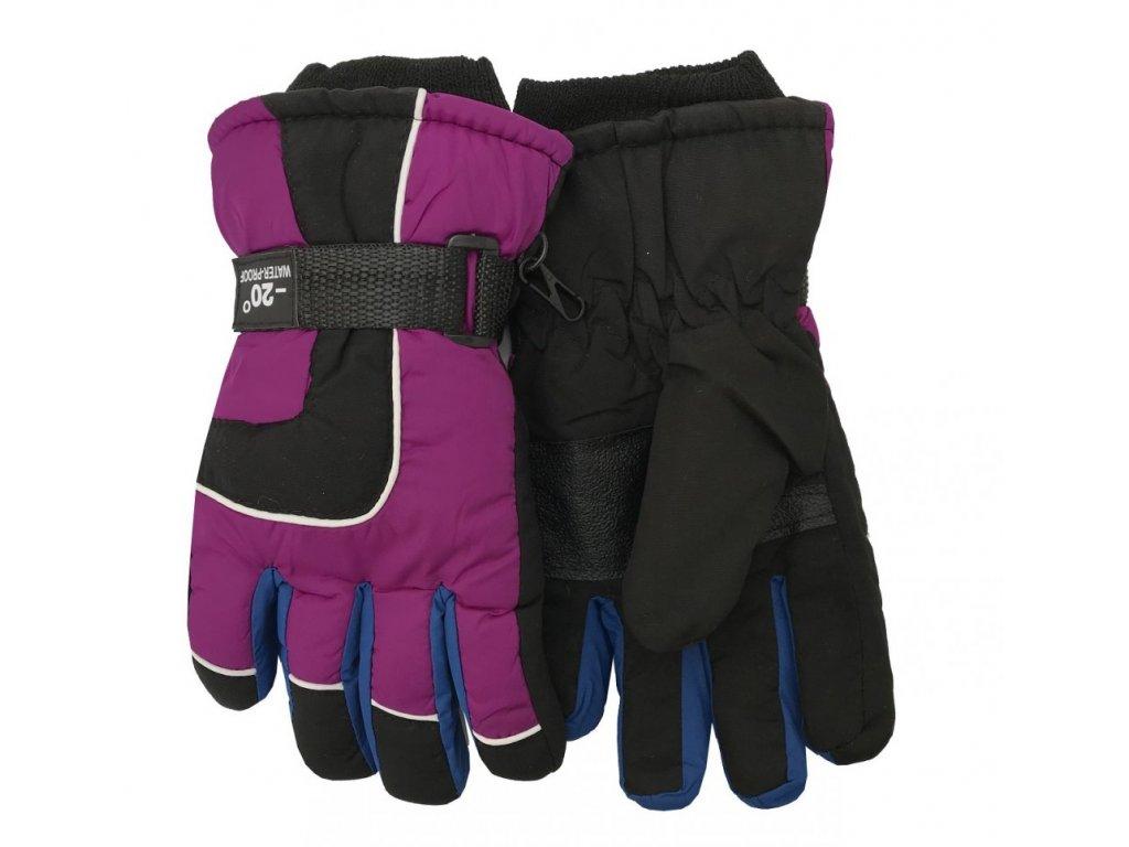 Dětské zimní rukavice Bella Accessori 9010-4 fialová