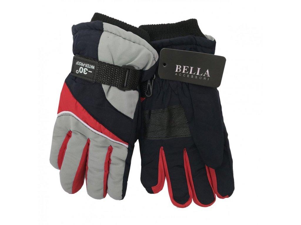 Dětské zimní rukavice Bella Accessori 9011S-6 šedá