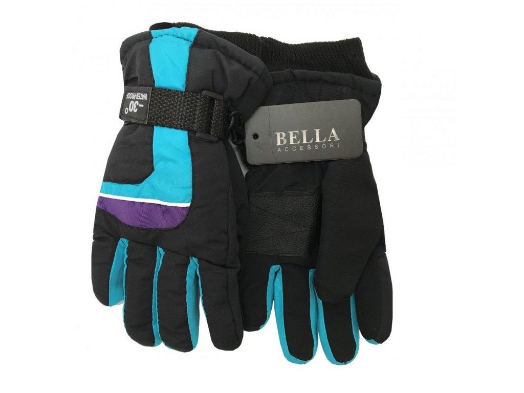 Dětské zimní rukavice Bella Accessori 9012S-1 tyrkysová