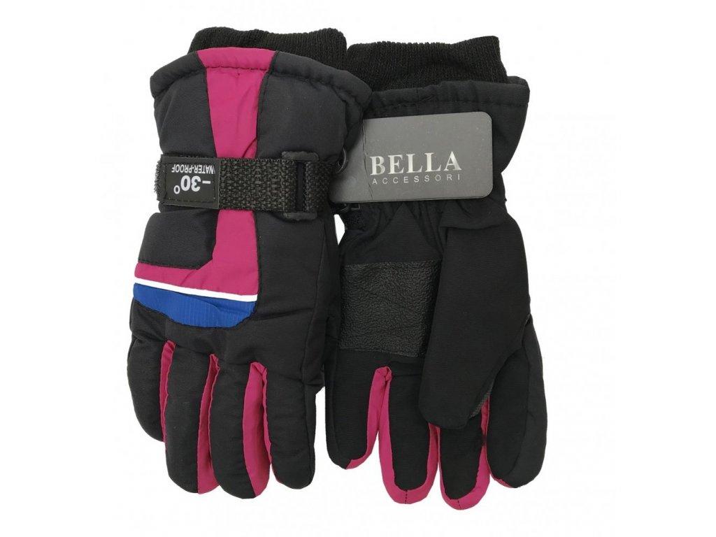 Dětské zimní rukavice Bella Accessori 9012S-2 růžová