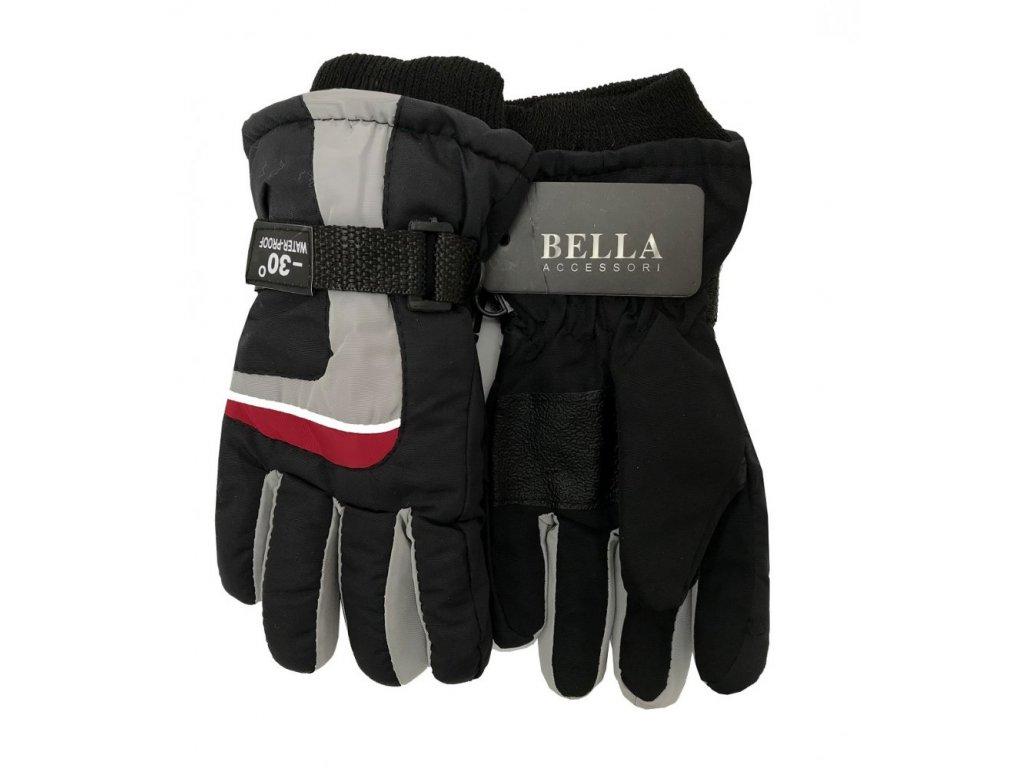 Dětské zimní rukavice Bella Accessori 9012S-6 šedá