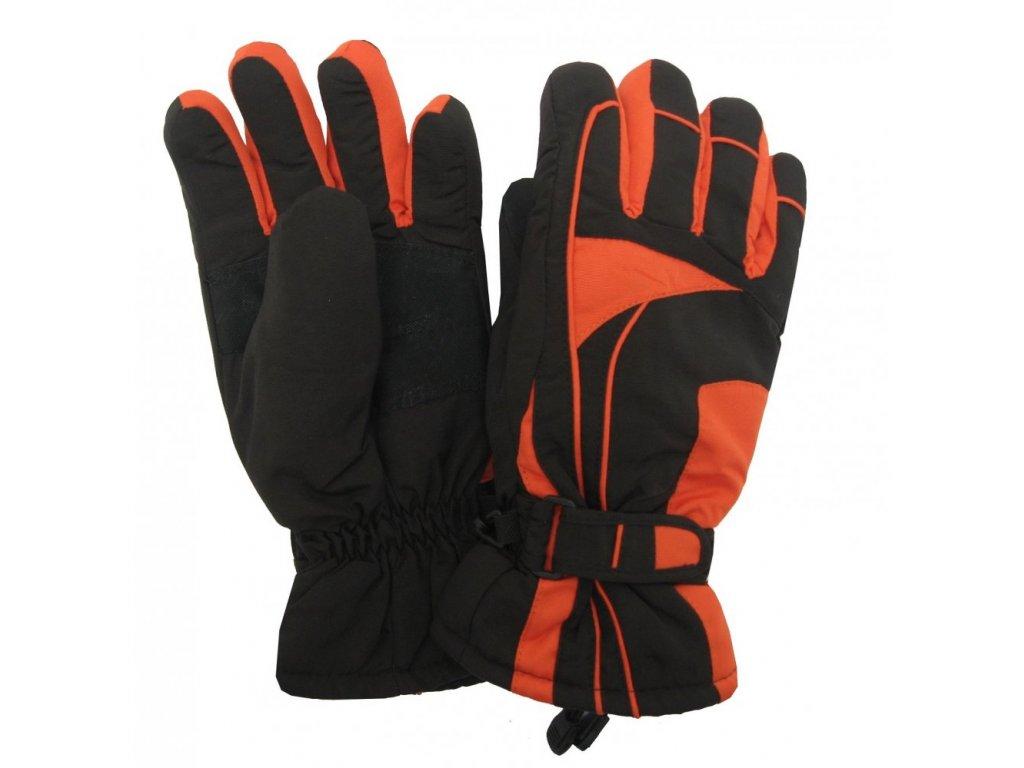 Dámské lyžařské rukavice Lucky B-4155 oranžové