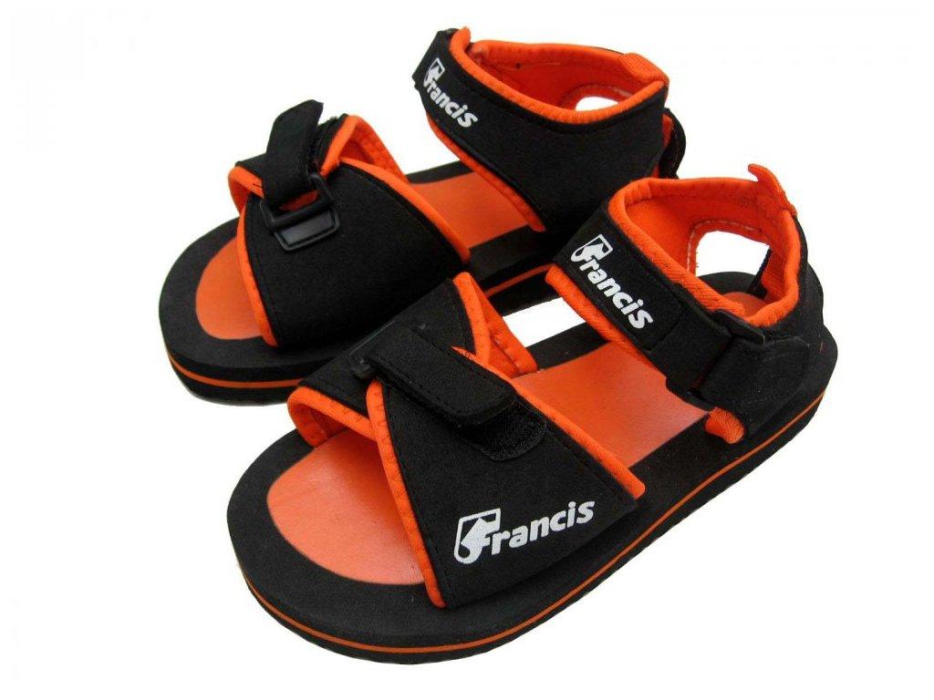 Dětské sandály Francis 1600 oranžové