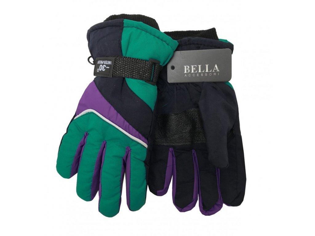 Dětské zimní rukavice Bella Accessori 9009-7 modrozelená