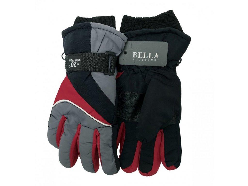 Dětské zimní rukavice Bella Accessori 9011S-10 tmavě šedá