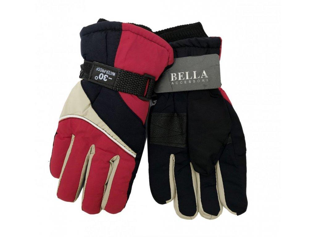 Dětské zimní rukavice Bella Accessori 9011S-8 červená