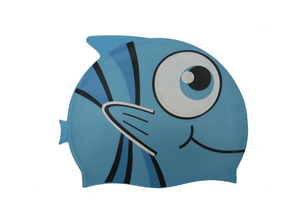 Dětská plavecká čepice Wave 4608 modrá rybka