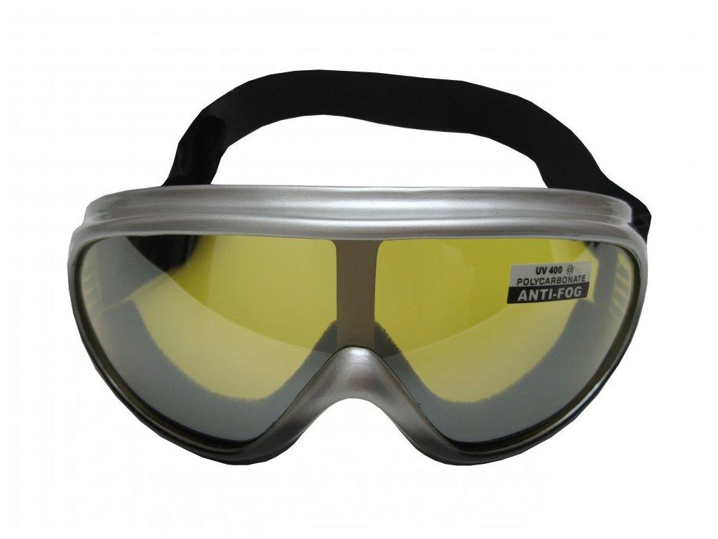 Lyžařské brýle Cortini Yetti G1324 junior stříbrné