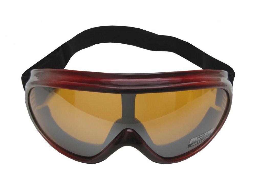 Lyžařské brýle Cortini Yetti G1324 junior červené