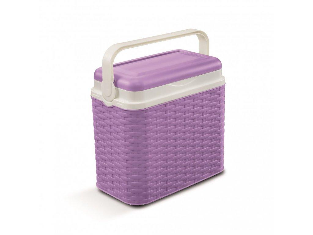 Chladící box Adriatic 10 l ratan fialový
