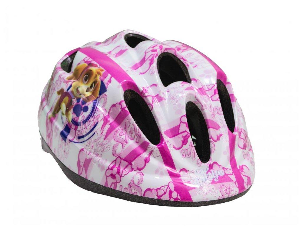 Dětská cyklistická helma Toimsa Tlapková Patrola dívčí