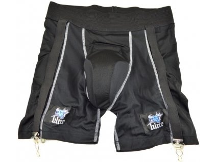 suspenzor blue sports compression jock shorts sr
