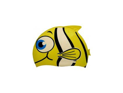 Dětská plavecká čepice Dolvor Yellow Fish