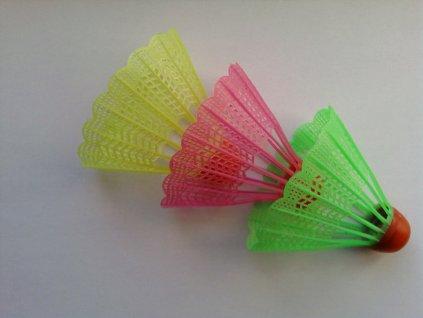 Badmintonové míčky barevné UNISON UN 1008 – 3 ks v sáčku