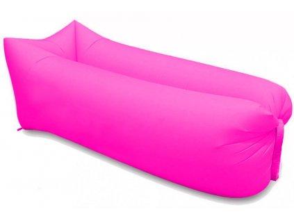 nafukovaci vak sedco sofair pillow lazy ruzovy