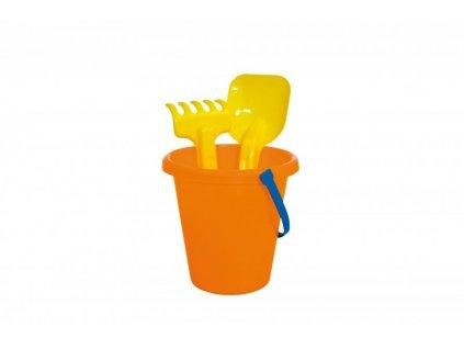 Sada kyblík 16 cm + 2 ks hračky na písek