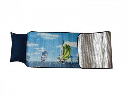 Plážové lehátko alu s nafukovacím polštářkem 185x55 cm