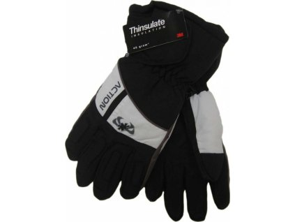 Pánské lyžařské rukavice Action, černé