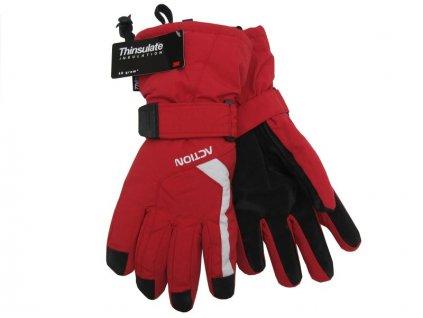Dámské rukavice Action, červené