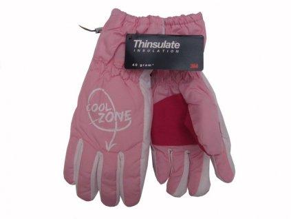 Dětské zimní rukavice Cool Zone, růžové