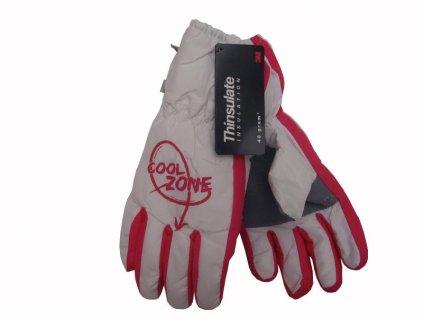 Dětské zimní rukavice Cool Zone, bílé