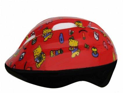 Dětská cyklistická helma Fly medvídci
