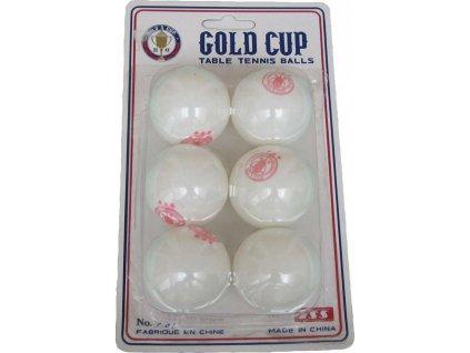 Míčky na stolní tenis Gold cup 6 ks