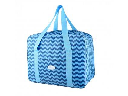 Plážová termotaška - chladící taška Kasaviva 7 litrů modrá