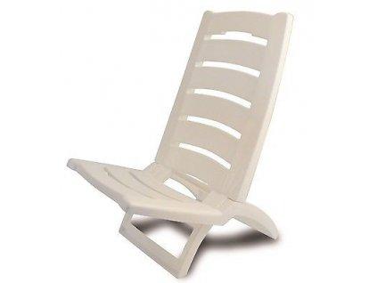 Plastová plážová židle Adriatic bílá