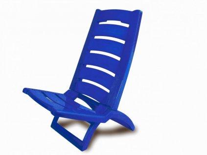 Plastová plážová židle Adriatic modrá