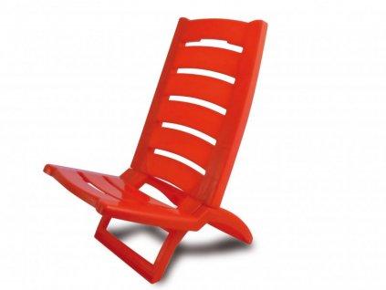 Plastová plážová židle Adriatic červená