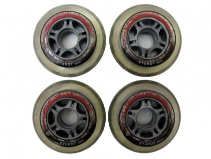 Kolečka na inline kolečkové brusle 80x24 mm - Sturdy 4 ks