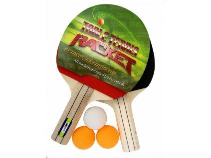 Set ping pong Ricky 2x pálka na stolní tenis + míčky