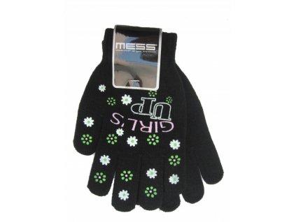Dětské pletené rukavice Mess GL354 černé