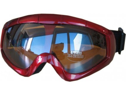 Lyžařské brýle Cortini Snowflake dětské červené
