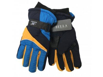 Dětské zimní rukavice Bella Accessori 9011S-1 modrá