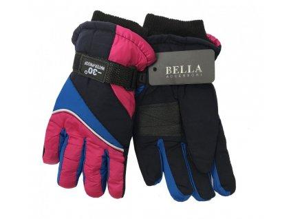 Dětské zimní rukavice Bella Accessori 9011S-2 růžová