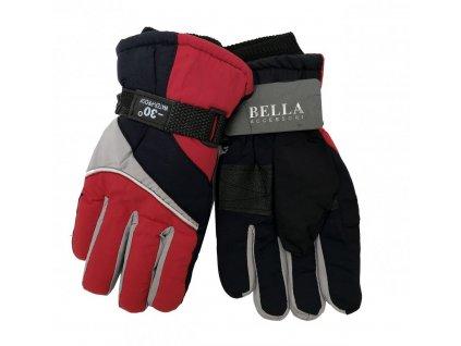 Dětské zimní rukavice Bella Accessori 9011S-3 červená