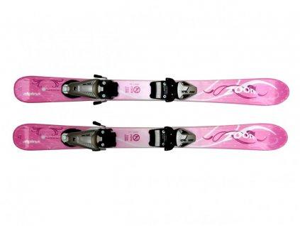 Dětské lyže Alpina Zoom růžové 90 cm
