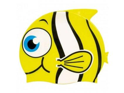 Dětská plavecká čepice Dolvor SC14 Yellow Fish