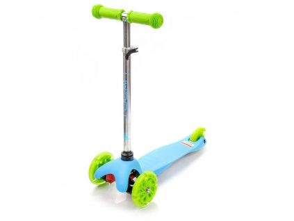 Dětská tříkolka Meteor Tucan s LED kolečky modrozelená