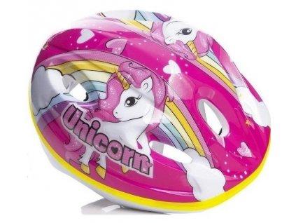 Dětská cyklistická helma Dino Bikes CASCOUN Unicorn Jednorožec