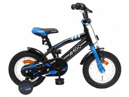 Dětské kolo AMIGO BMX Fun černá/modrá 12