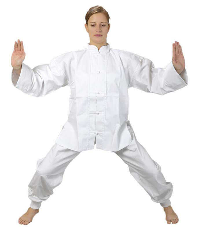 KIMONO TAICHI, KUNGFU, WUSHU, oblek, bílý Velikost: 140