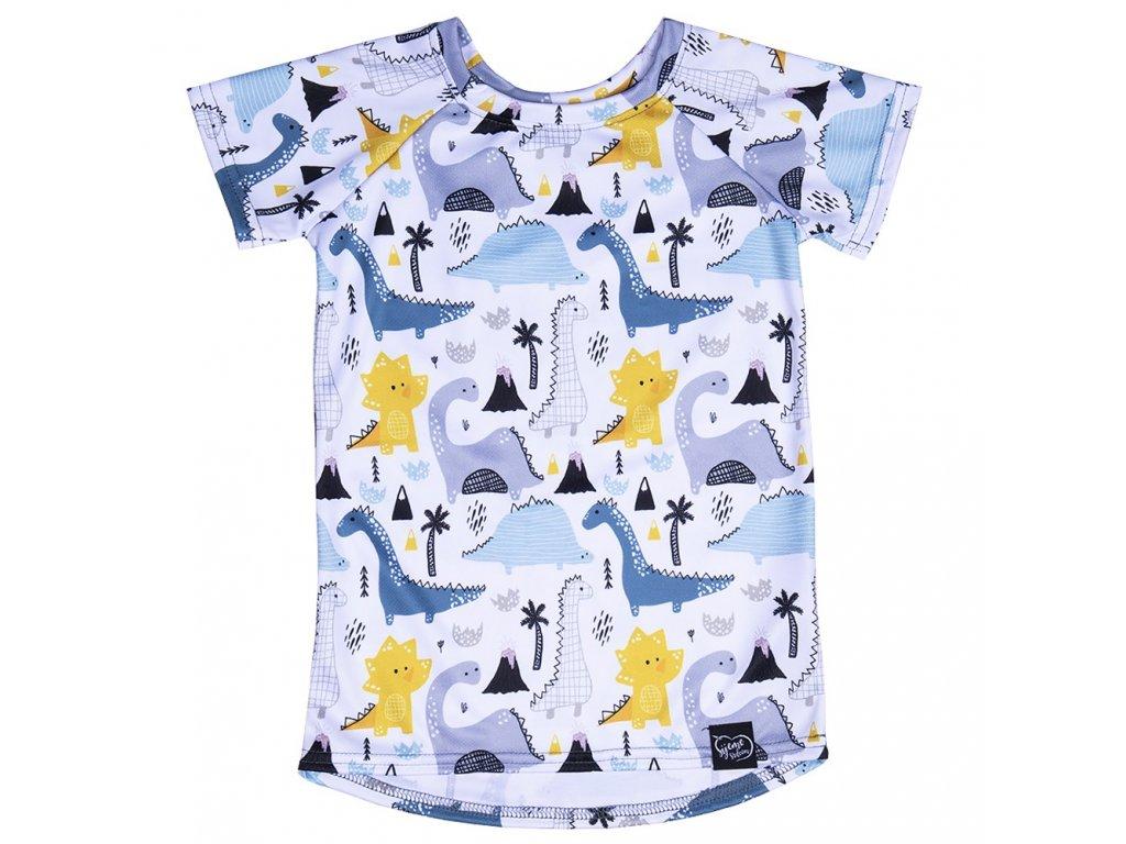 Funkční tričko s dinosaury