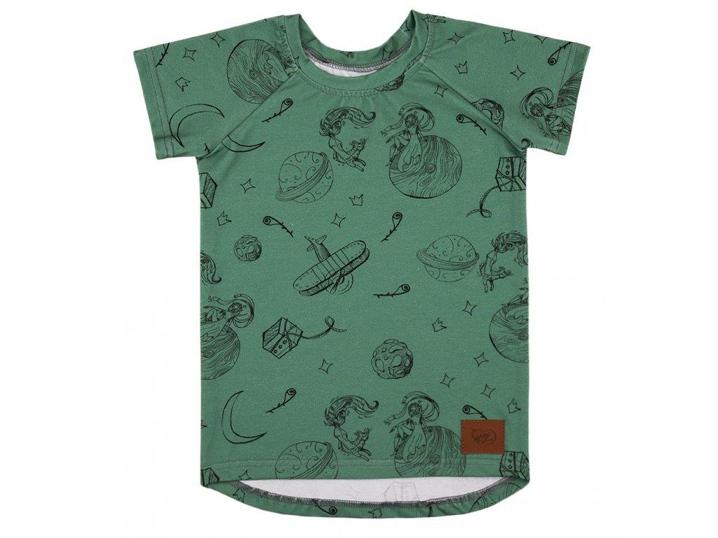 Dětské zelené tričko Malý princ
